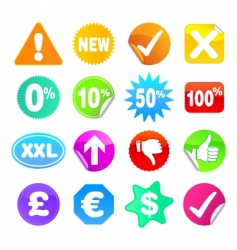 bright stickers vector image vector image