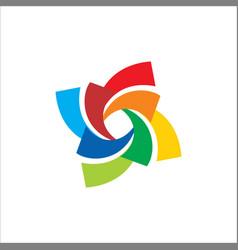 circle colorful spin logo vector image