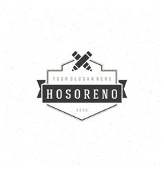 Designer Logotype Design Element in Vintage Style vector image