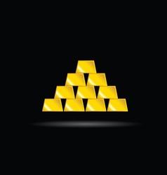 Gold bullion yellow vector