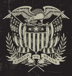 Hand Drawn American Eagle vector image vector image
