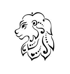 Lion head tattoo or logo vector