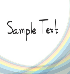 Abstract Background soft line vector image vector image