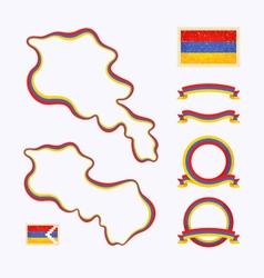 Colors of armenia vector