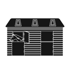 Horse stable icon in black style isolated on white vector image