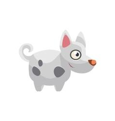 Hound Simplified Cute vector image vector image