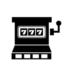 jackpot slots machine icon vector image