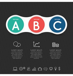 Modern infographic for 4 step vector image