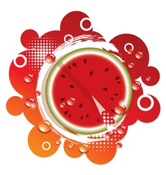 abstract background with fresh watermelon vector image vector image