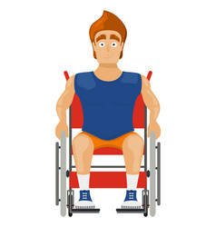 athlete in a wheelchair on a white background vector image