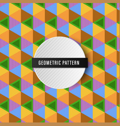 colorful seamless geometric pattern background vector image vector image