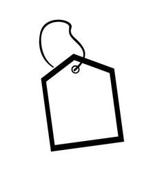 commercial tag hanging icon vector image