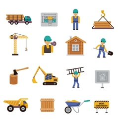 Construction Icon Flat vector image