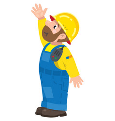 funny construction worker vector image