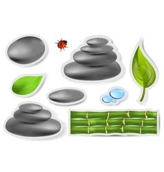 Set spa sticker vector image vector image