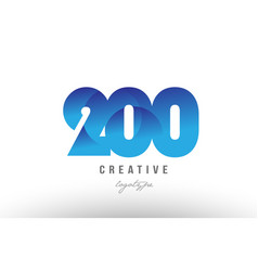 200 blue gradient number numeral digit logo icon vector