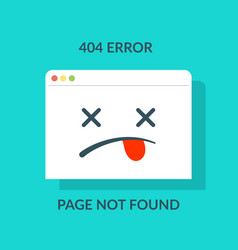 404 error concept of page not found or web site vector image