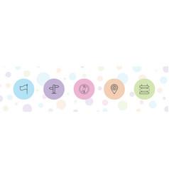 5 destination icons vector
