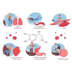 Adrenalin hormone set vector