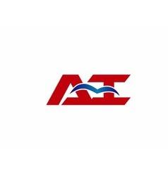 AI company linked letter logo vector