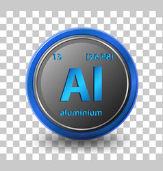 Aluminium chemical element chemical symbol with vector