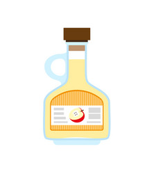 Apple vinegar icon flat style vector