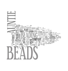 Aunties beads text word cloud concept vector