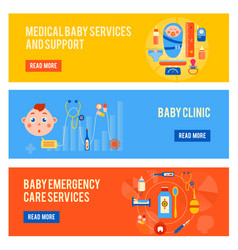 baby health horizontal banners set vector image