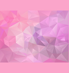 Baby pink and violet color polygon background vector