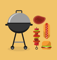 Barbecue celebration concept icons vector