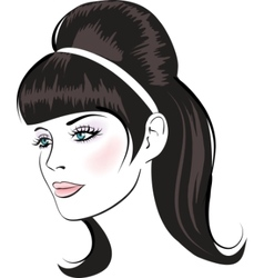 beauty face vector image