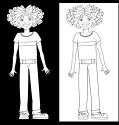 boy with dreadlocks vector image