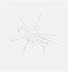 broken glass texture isolated on white transparent vector image