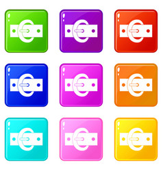Buckle belt set 9 vector