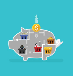 business financial concept diversification vector image