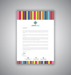 business letterhead with stripes design 1008 vector image