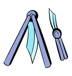 Butterfly knife icon icon cartoon vector