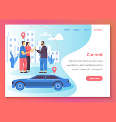 car rent carsharing service company web banner vector image