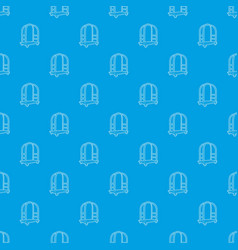 cart in hotel pattern seamless blue vector image