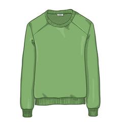 Cartoon - green sweatshirt vector