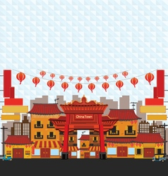 China Town vector image