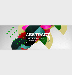 circle background abstract trendy shapes vector image