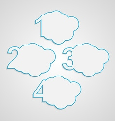 Creative paper colorful numbered clouds vector