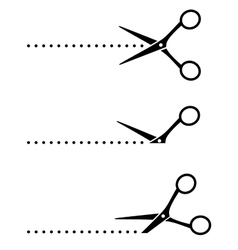 Cutting scissors and points vector