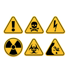 danger signs safety symbol alert icon vector image