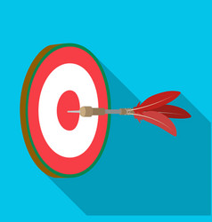 dart and a target for darts the game of darts vector image