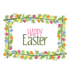 easter frame with branches vector image