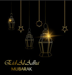 eid al adha beautiful greeting card vector image