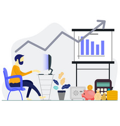 Financial performance statistic report boost vector