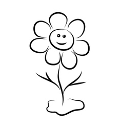 Flower with a smile vector image